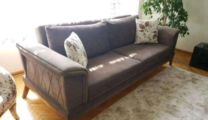 ankara mobilya sıfır ayarında iki adet temiz kanepe