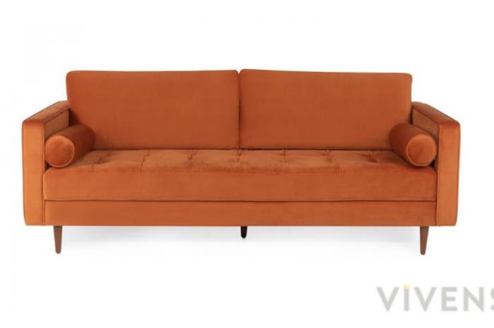 turuncu çekyat kanepe yatak olmaz sadece oturma amaçlı kullanılabilir
