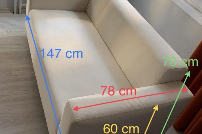 2 kişilik koltuk kanepe bej renginde sıfır ayarında temiz ve ucuz