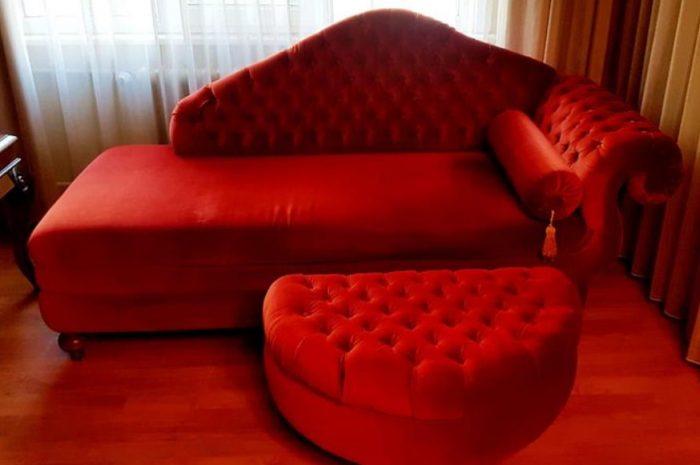 ikinci el josephine ( josefin) kadife bordo + sosis yastık koltuk kanepe