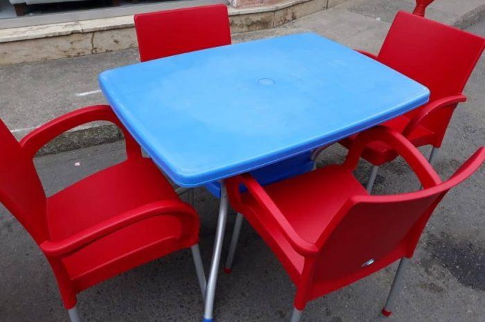 ikinci el renkli masa sandalye