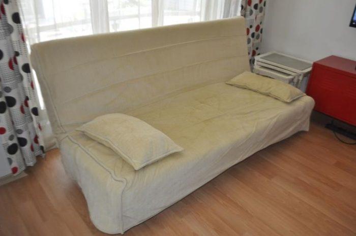 ikea beddinge lovas çekyat yatak olur ucuz fiyata ikinci el
