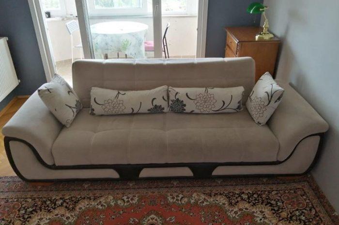 Yataklı 3lü kanepe koltuk az kullanılmıştır